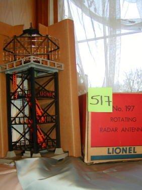 517: Lionel Rotating Radar Antenna No 197, Original Box