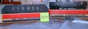 Lionel Gondola Car 6462 and Plate Girder Bridge 21