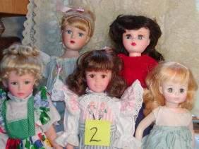 Lot of 5 Dolls