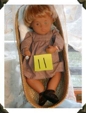 "12"" Sasha Baby Sandy, Original Gingham Dress, Made"