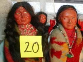 Lot of 2 Skookum Indian Dolls,