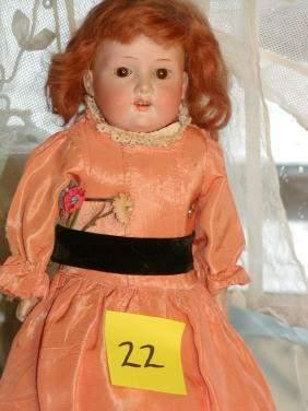 """16"""" German Bisque Doll, Kid Body, Armand Marseille"""