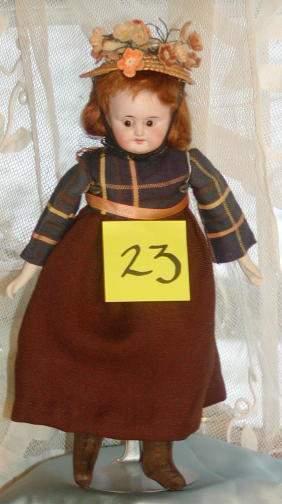 """10"""" German Bisque Head Doll"""