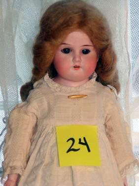 """16"""" German Bisque Doll, Kid Body, Handwerck"""