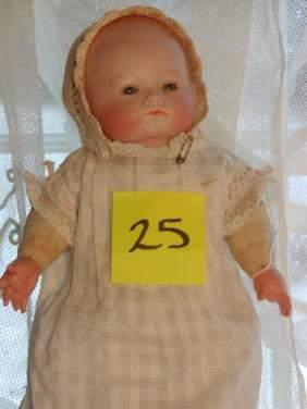 "11"" German Bisque Head Character Baby Phyllis"