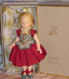 81: UFDC Convention Doll Musette by R John Wright,Origi