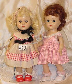 23: Two Molded Lash Vogue Ginny Dolls