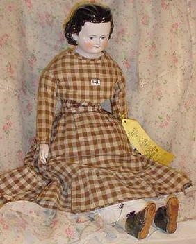 "40: 25"" China Head Doll, Exposed Ears"