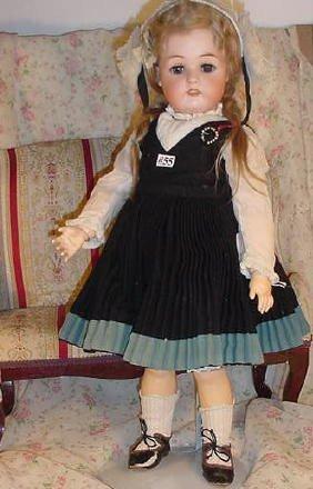 """55: 21"""" German Bisque Doll, Kammer & Reinhardt"""