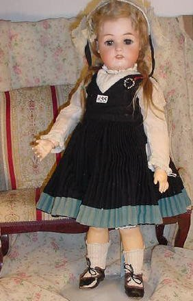 "55: 21"" German Bisque Doll, Kammer & Reinhardt"