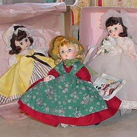 """1_4 Madame Alexander 8"""" Dolls"""