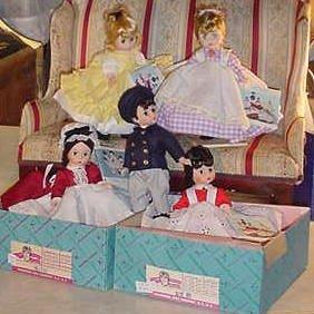 "4_5 Madame Alexander 8"" Little Women Dolls"