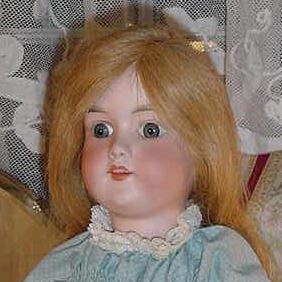 """12_18"""" German Bisque Head Doll"""