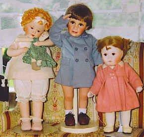 24_Three Porcelain Head Dolls, Elke Hutchen