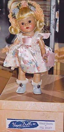 30_Vogue Ginny in Satin Print Dress with Wrist tag-Box