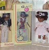 64_3 Black Dolls, Shindana,Sindy & Sissy