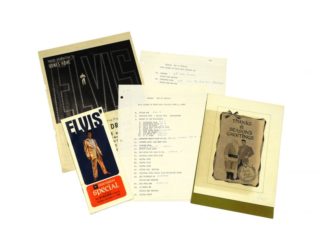 Promotional Ephemera Related to the Elvis TV Special