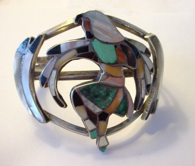Very Large Zuni Inlay Bracelet