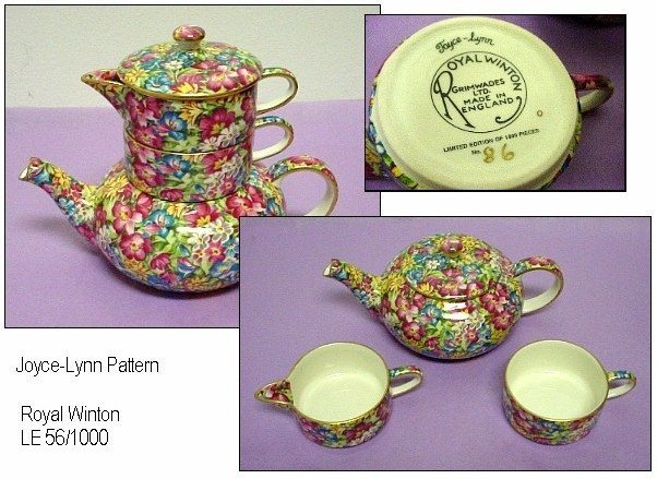 Royal Winton Chintz Joyce Lynn Stacking Teapot