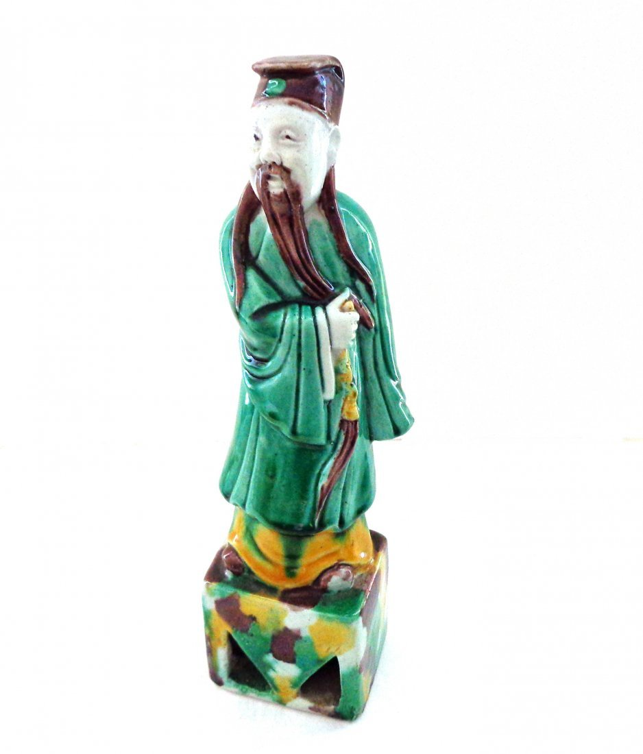 Antique Chinese Figurine of Immortal Lu Dong-Bin