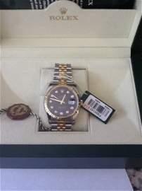 2003 Rolex Oyster Date Diamond Dial Mans Watch