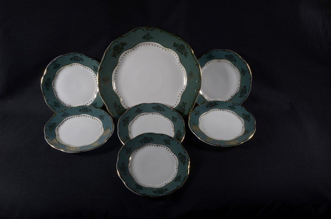 Original Zsolnay (Pompadour) Serving Set for Cakes