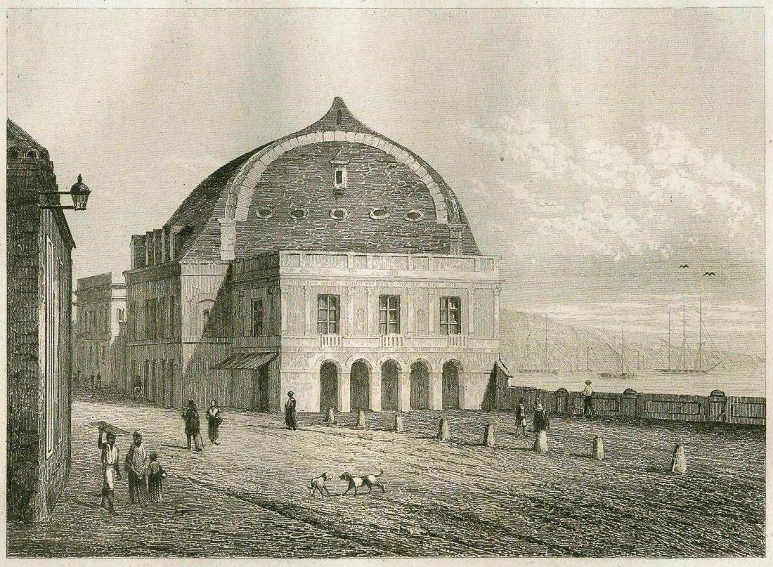 The main Theatre of Havana. CUBA. 1839.