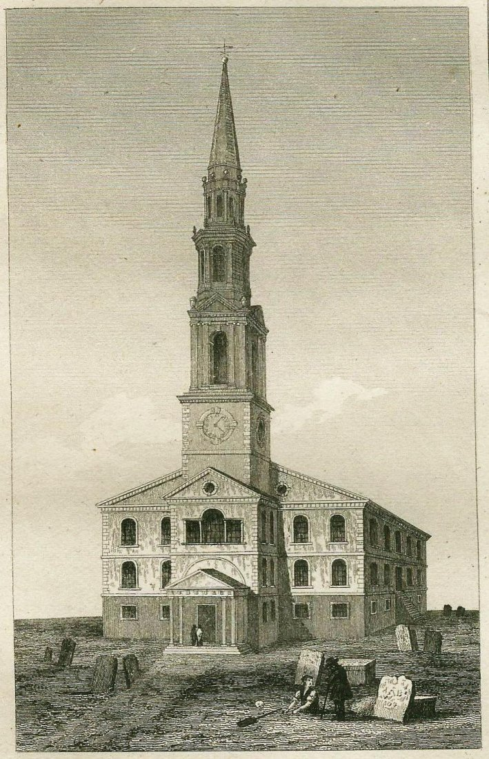 First church of the Anabaptists. USA. 1837.