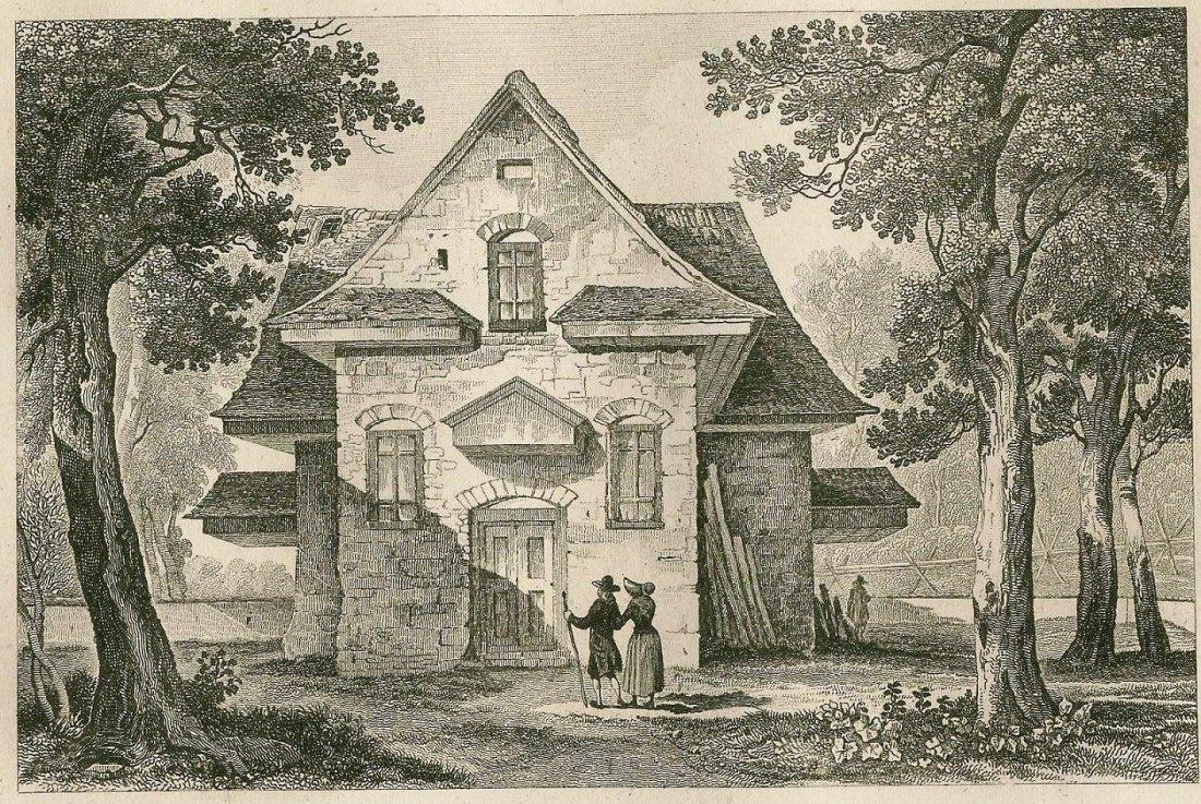 Thienon. Temple of Quakers in Philadephia USA. 1837.