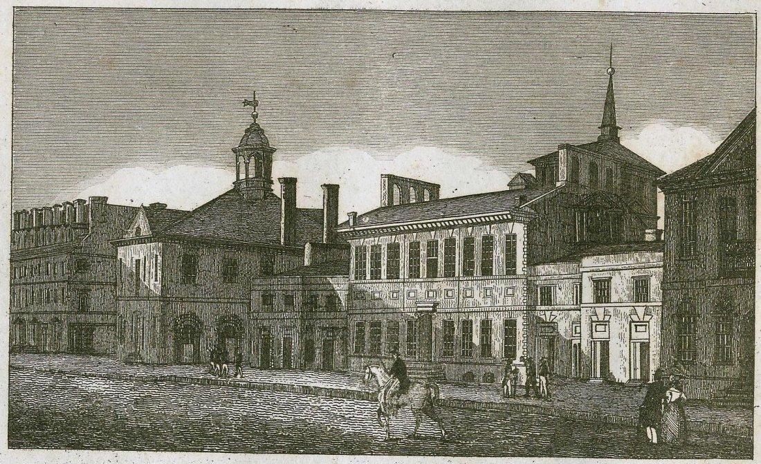 Le Bas. City Hall in Philadephia. USA. 1840.
