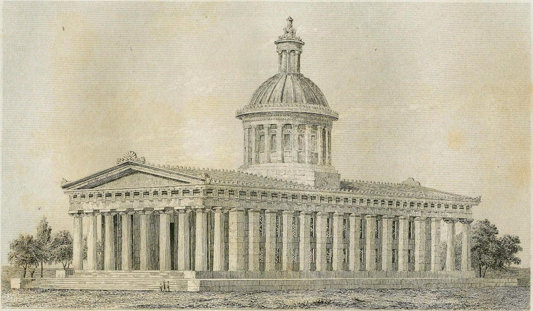 Capitol of Indiana. USA. ~1843.