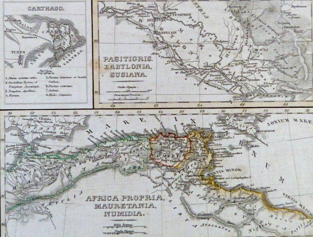 Map. Carthage – Tigris region – Africa proper. 1846.