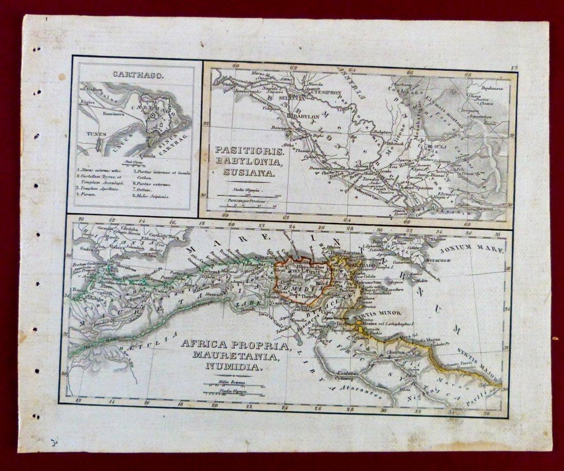 Map. Carthage – Tigris region – Africa proper. 1846. - 2
