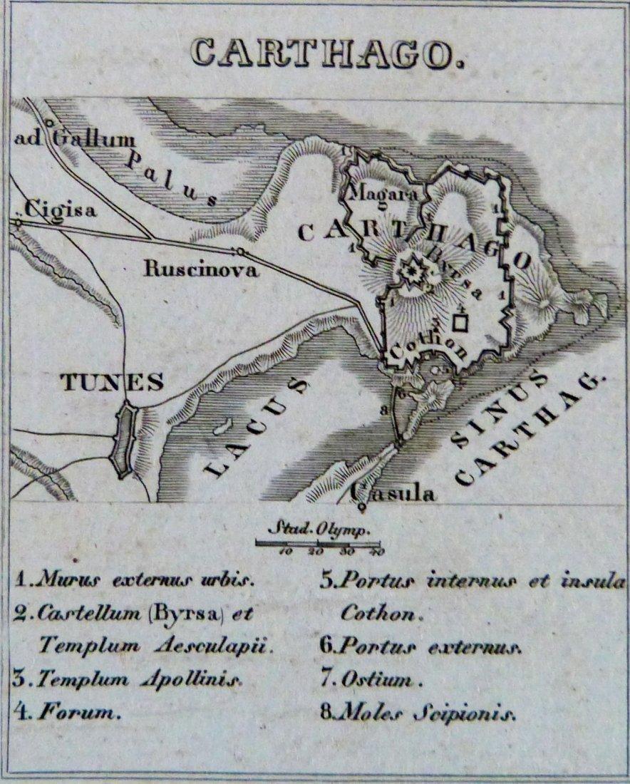 Map. Carthage – Tigris region – Africa proper. 1846. - 4