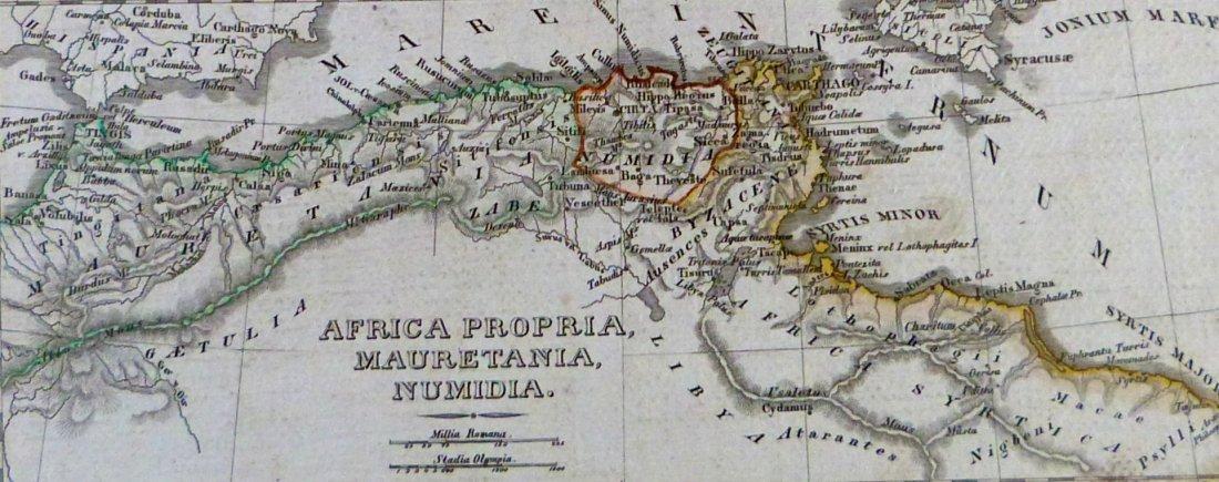 Map. Carthage – Tigris region – Africa proper. 1846. - 5