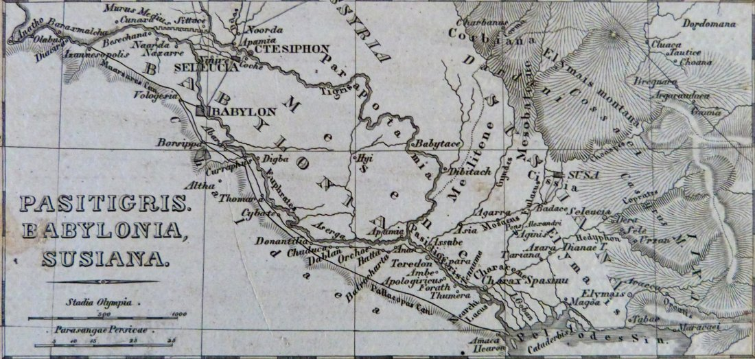 Map. Carthage – Tigris region – Africa proper. 1846. - 6