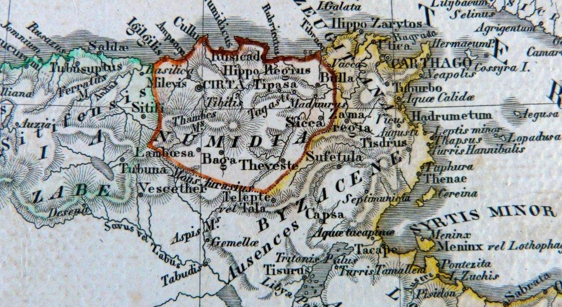 Map. Carthage – Tigris region – Africa proper. 1846. - 7