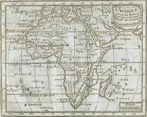 Buffier Map of Africa France 1765