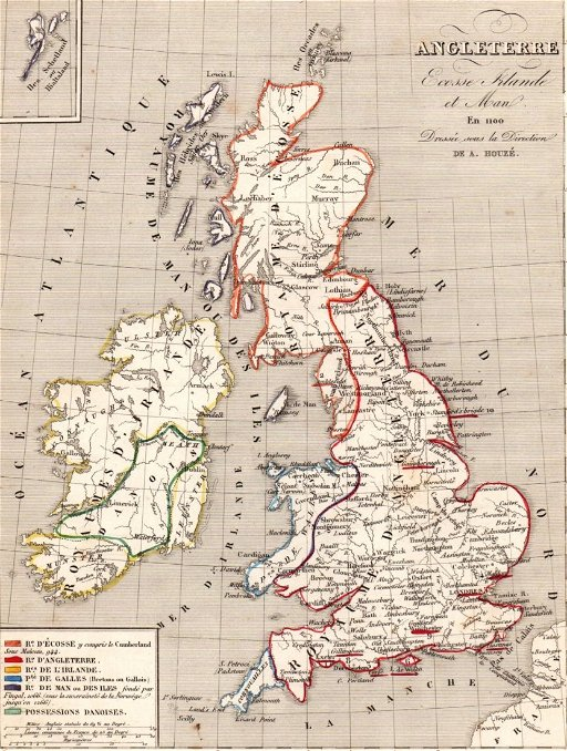 Map Of England 1100.Map Of England Scotland And Ireland In 1100 Sep 08 2015
