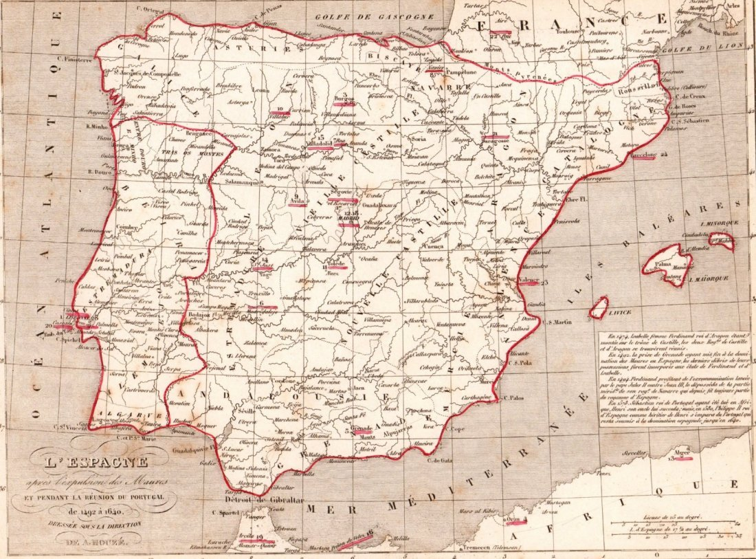 Of Spain And Portugal In Print In - Portugal map to print