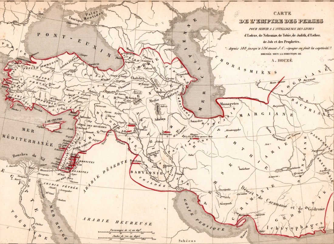 Of Persian Empire Print In - Persian empire map