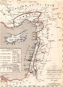 Map of the Holy Land  Print in 1850