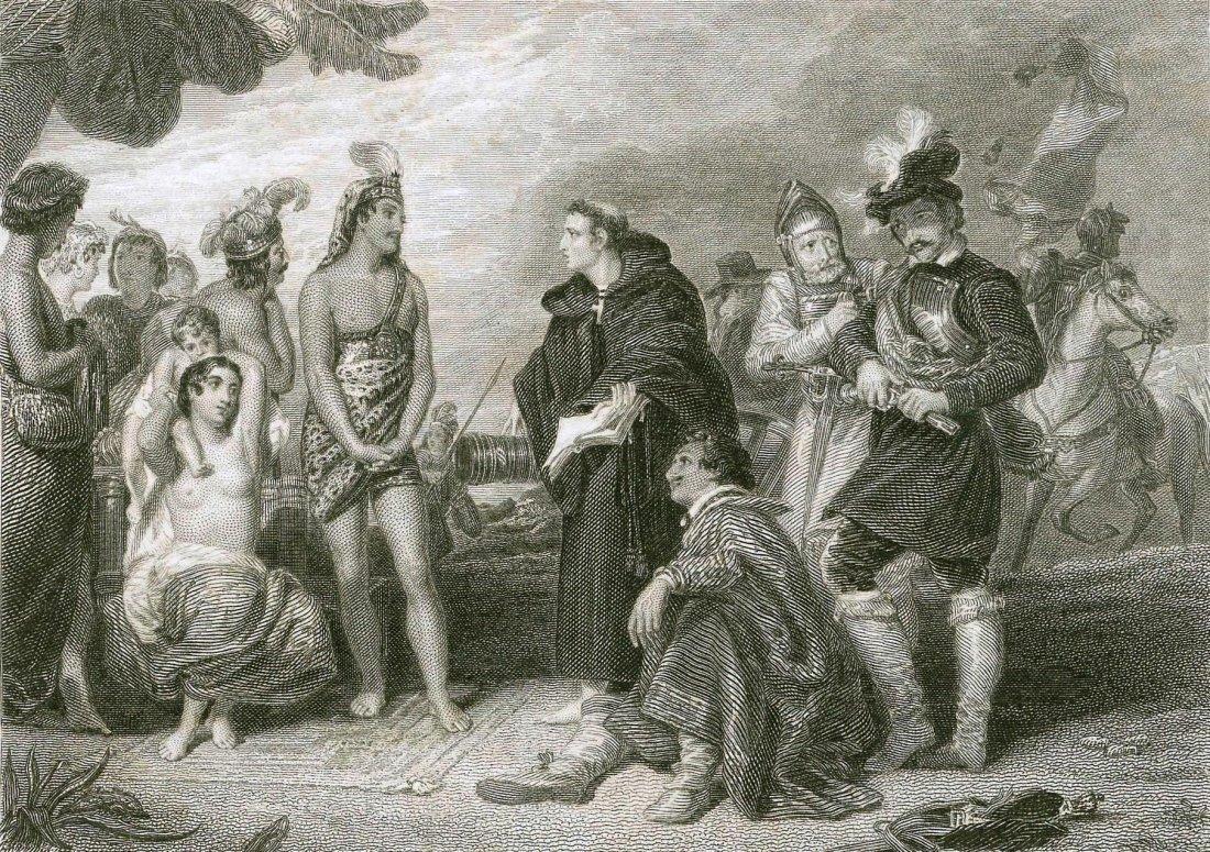 Conquistadors and the Incas. 19th.