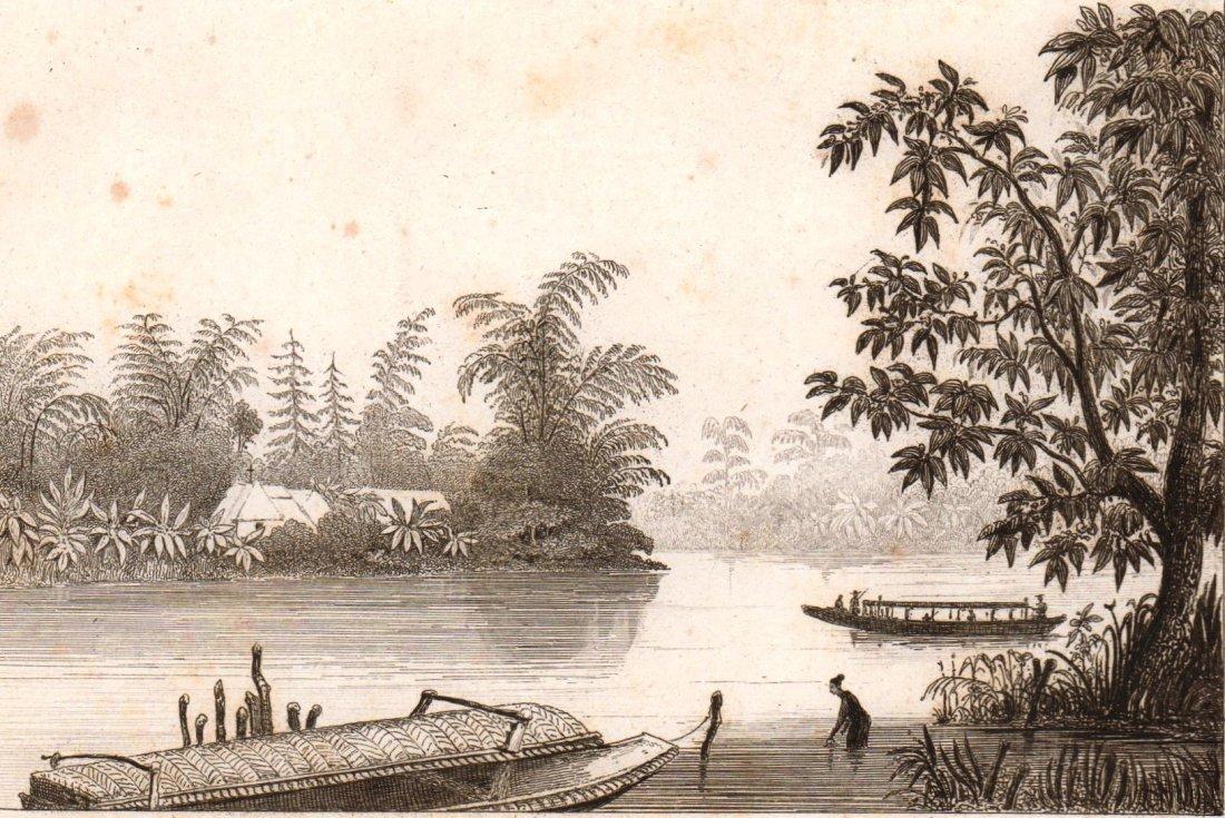 River flow. Philippines. 1836.