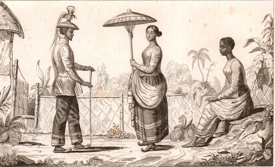 Costumes of Loucon. Luzon  Island. Philippines. 1836.