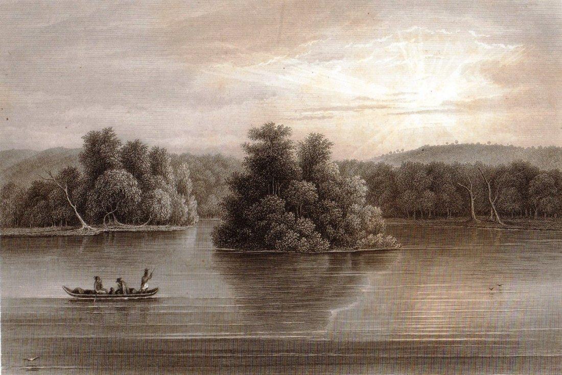 The upper mississippi. Minnesota. USA. 1856.