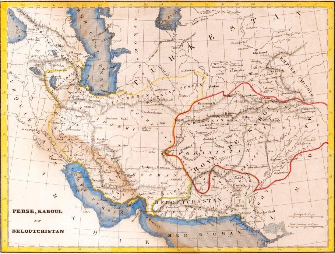 Map of Persia, Kabul and Baluchistan. Asia. 1835.