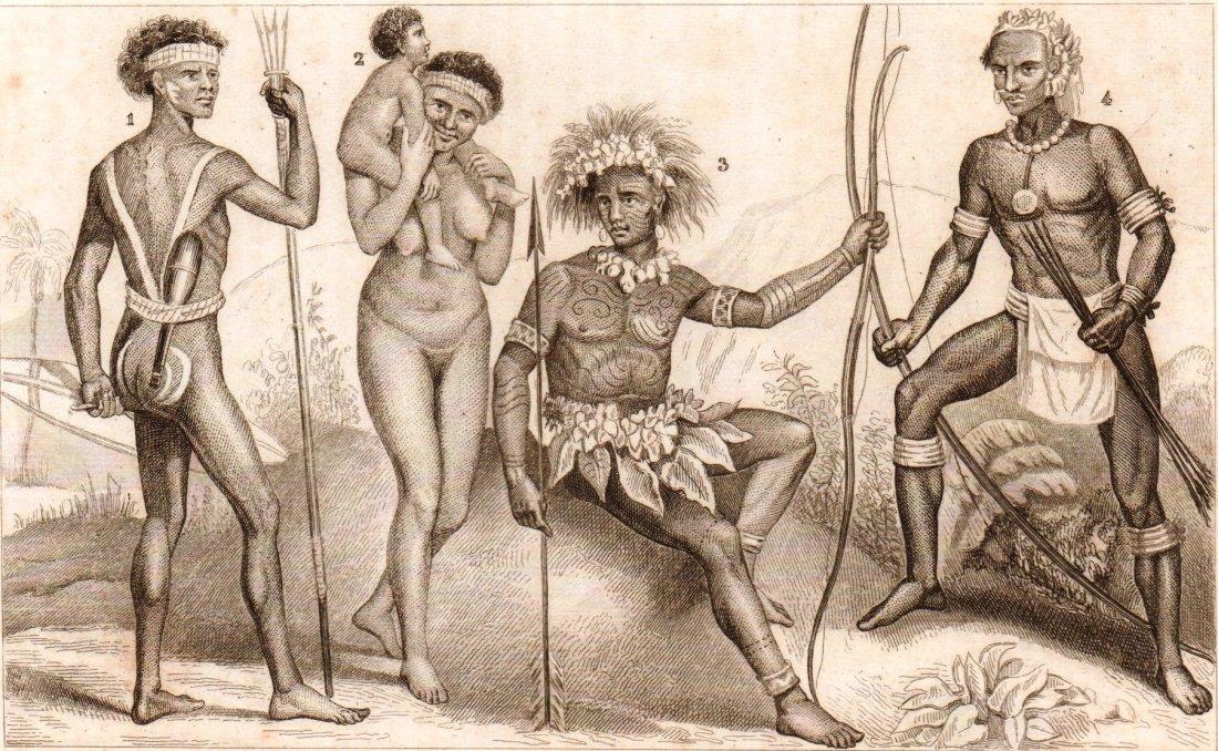 People of Australia Island of Vanikoro. Australia. 1844