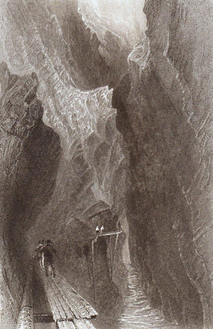 Gorge of the Tamina.  Switzerland. 1839.