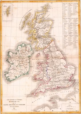 Map Of The United Kingdom Of Great Britain And Ireland